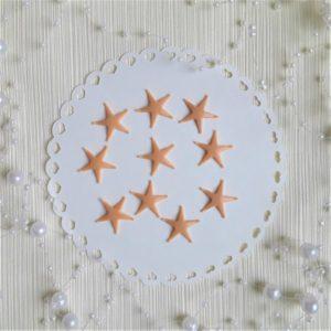 Морские звездочки бежевые, 2 см.