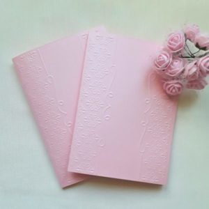 Розовые заготовки для открыток., 5 шт.