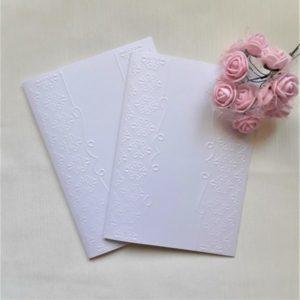 Заготовки открыток из перламутрового картона, 5 шт.