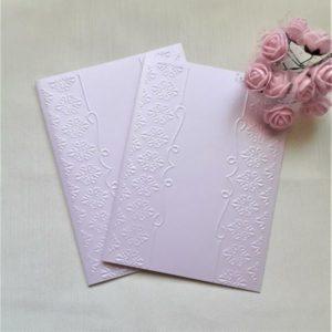 Заготовки светло-лилового цвета для пригласительных, 5 шт.