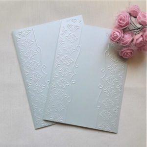 Тисненые заготовки для пригласительных в мятном цвете, 5 шт.