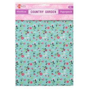 Бумага для декупажа, Country garden, 2 листа, 40*60 см, 952513