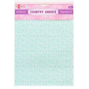 Бумага для декупажа, Country garden, 2 листа, 40*60 см, 952511
