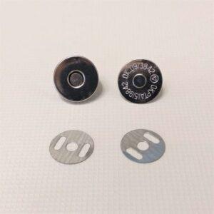 Кнопка магнит 18 мм, никель