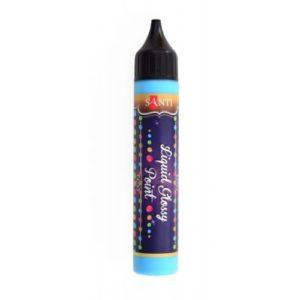 """ЗD-гель """"Liquid glossy Point"""" голубой."""