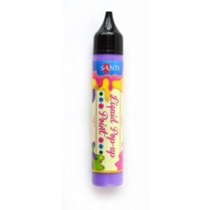 """ЗD-гель """"Liquid pop-up gel"""", пурпурный."""