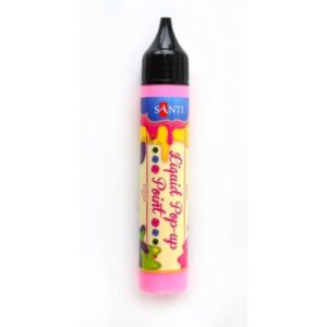 """ЗD-гель """"Liquid pop-up gel"""", розовый."""