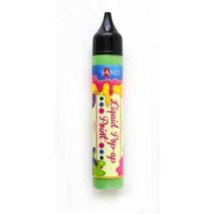 """ЗD-гель """"Liquid pop-up gel"""", зеленый."""
