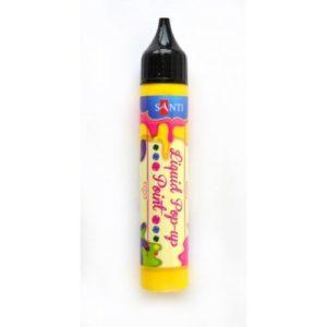 "ЗD-гель ""Liquid pop-up gel"", желтый."