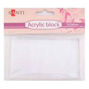 Акриловый блок для силиконового штампа.