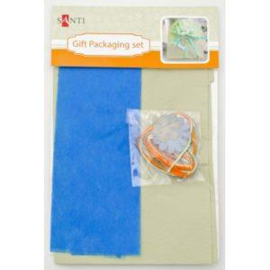 Набор для упаковки подарка, бирюзово-салатовый, 40*55 см, 2 шт/.уп.
