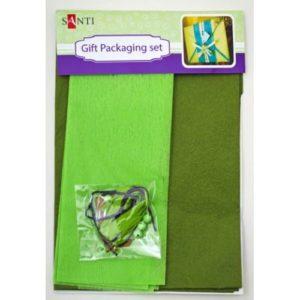 Набор для упаковки подарка, зеленый-хаки, 40*55 см, 2 шт/.уп.