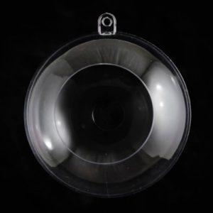 Пластиковая форма Шар с отверстием, 12 см.
