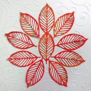 Набор декоративных листьев.