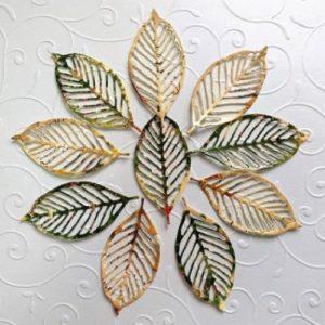 Ажурные листья для скрапбукинга.