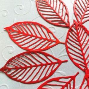 Набор ажурных листьев для скрапбукинга.