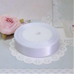 Атласная лента, цвет белый, 2 см.