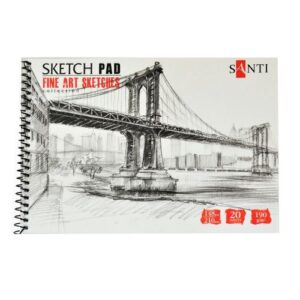 Альбом для графики SANTI Fine art sketches, А5, 20 л, 190 г/м2.