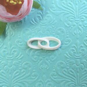 Декор гибкий Кольца обручальные, 1,2*3 см.