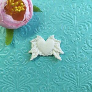 Декор гибкий Сердце с листьями, 3,5*2,5 см.