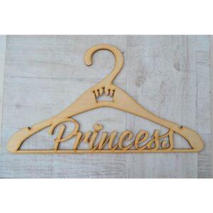 Фигура из фанеры Вешалка Princess, 42*24 см.