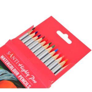 """Набор акварельных карандашей """"Santi Highly Pro"""", 12 штук."""
