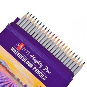 """Набор акварельных карандашей """"Santi Highly Pro"""", 24 штуки."""