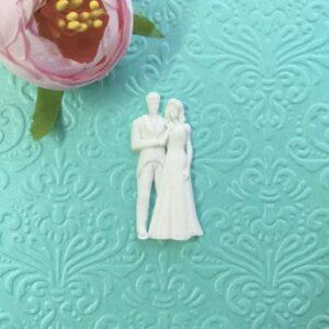 Жених и невеста, гибкий декор, 4,4*2 см.