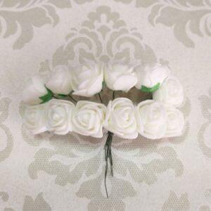 Розы белые из фоамирана, набор 12 шт.