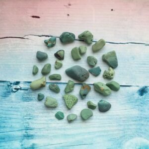 Морские камни бирюзового цвета, 31 шт., 50 г.