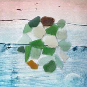 Морские стекла Sea glasses №1, 20 шт., 50 г.