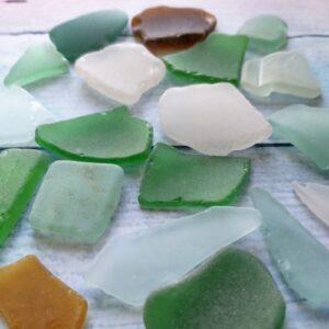 Морские стекла Sea glasses для декора.