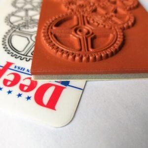 Резиновый штамп Deep Red Stamps,9*6 см.