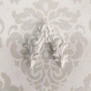Гибкий декоративный фигурный элемент для декупажа, 6,5*6,8 см.