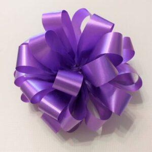 Бант подарочный фиолетовый, 14 см.