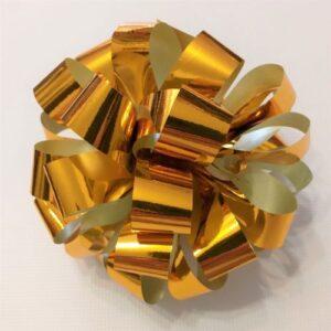 Бант подарочный золотой, 14 см.