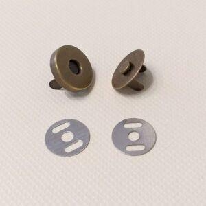 Кнопка магнит 18 мм, антик.