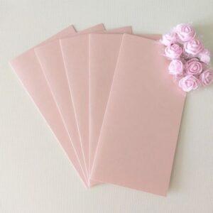 Заготовки для открыток 10*20 см, перламутр., розовый пудровый, 250гр/м2. Набор 5 штук.