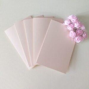 Заготовки для открыток 10*15 см, перламутр/, коралловые светлые, 250гр|м2, 5 штук.