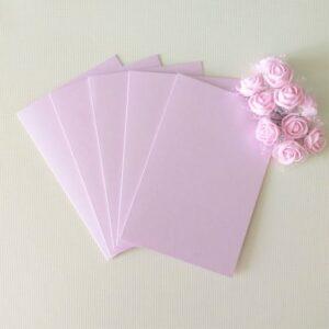 Заготовки для открыток 10*15 см, перламутр., лиловые светлые, 250гр/м2, 5 штук.