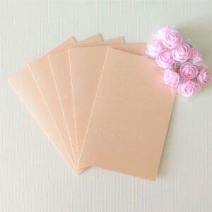 Заготовки для открыток 10*15 см, перламутр., кремовые, 250гр/м2, 5 штук.