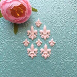 Декор гибкий Королевская лилия, 2,3*1,8 см/1,3*1 см. Набор 8 шт.
