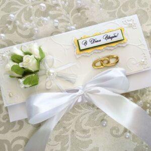 Свадебный конверт для денег, 8,5*17 см.