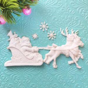 Набор Дед Мороз на санях, гибкий, 4 шт.