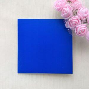 Открытка из двухстороннего синего картона, 10*10 см, 1 шт.