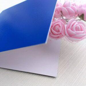 Открытка из синего картона, 10*10 см, 1 шт.