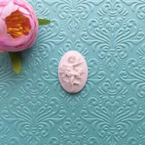 Камея Ангелок, 3,2*2,4 см, гибкая.