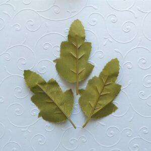 Листья искусственные, 8,5*5 см. Набор 3 шт.