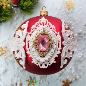 Набор гибкого декора Барокко с вензелями и стразовой брошью.