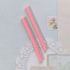 Стержни цветной пластик для клеевого пистолета 7 мм, 10 см, розовый.